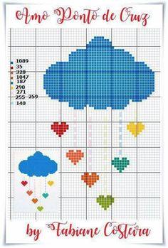 Baby cloud cross stitch.