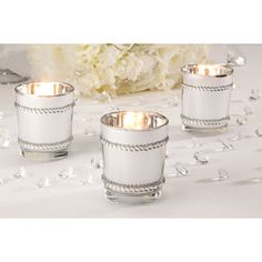 #silver candle votives #wedding candles #wedding decorations   http://www.bliss-bridal-weddings.com/#!product/prd3/3554977001/36-stunning-silver-candle-holders