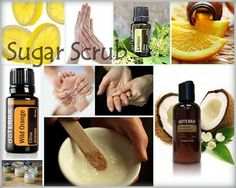 SUGAR SCRUB- We all want to have soft hands and feet! Here is the recipe to get glowing and smooth skin fast and easy: You will need to mix ½ cup of white sugar, ½ cup fractionated coconut oil and 12 drops of your favorite dōTERRA oil. Recommended oils are: Lemon, Wild Orange, Citrus Bliss, Grapefruit or Lavender. Rub mixture onto hands and feet until the sugar dissolves. Rinse and pat dry. Store in a covered container.  http://mydoterra.com/gladysyarbrough