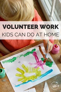 Families are busy - between work, school, after-school activities, sports, cooking dinner, and trying to stay sane, it's not always possible to have a regular volunteer commitment. Fortunately, there are a number of volunteer activities you can do with your kids right out of the home. #kids #volunteer