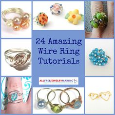 If you're never seen without rings on your fingers, you'll love this amazing collection of DIY rings. We've rounded up 24 Amazing Wire Ring Tutorials for everyone who can't leave the house without some finger adornment. | AllFreeJewelryMaking.com
