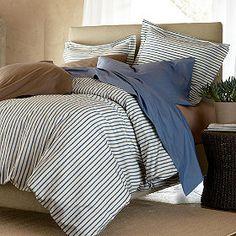 Brunswick Stripe Comforter Cover / Duvet Cover | The Company Store