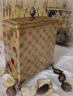 Декупаж - Сайт любителей декупажа - DCPG.RU | Исторические стили. Работа №3 Набор для хранения чая