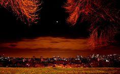 City night sky HD Wallpaper