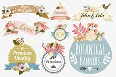 Botanical Banners - Illustrations - 1