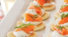 Smoked salmon and creme fraiche blinis recipe, NZ Womans Weekly – Smoked salmon blinis are the perfect appetiser for Christmas day Light and delicious they will leave your guests with plenty of room to enjoy the main course - Eat Well (formerly Bite) Xmas Food, Christmas Cooking, Christmas Buffet, Christmas Lunch, Blinis Recipes, Smoked Salmon Blinis, Crema Fresca, Sustainable Food, Food Platters