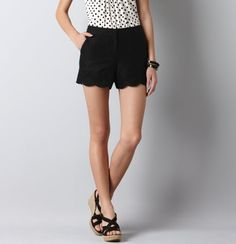 Scalloped Hem Eyelet Shorts from LOFT. They are surprising me this season...