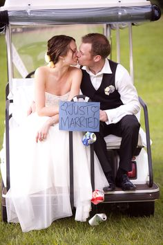 Golf Cart | Wedding Ideas and Inspiration Blog