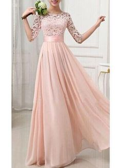 Soft pink long dress!