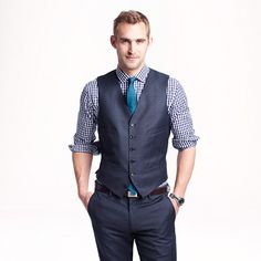 Love this look, just a different color tie!  J.Crew - Ludlow suit vest in Italian worsted wool
