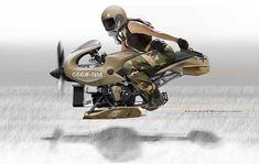 Flug concept – La moto volante