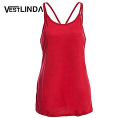 9708fa9ad4c2 Summer 2016 Sexy Women Tank Top Ladies Camisole Sleeveless Strap Vest  Backless Tops Solid Criss Cross Loose Feminino Crop Top