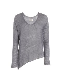 PULL PRETTY POINTELLE DELUXE C, gris, Zadig & Voltaire