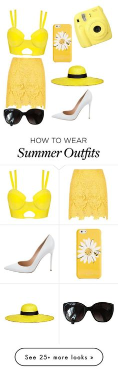 """Collection Of Summer Styles    """"Summer Outfit #16"""" by kweenniyahhh on Polyvore featuring River Island, Fuji, Kate Spade, Chanel, Sensi Studio and Gianvito Rossi    - #Outfits  https://fashioninspire.net/fashion/outfits/summer-outfits-summer-outfit-16-by-kweenniyahhh-on-polyvore-featuring-river-island-fuji-ka/"""