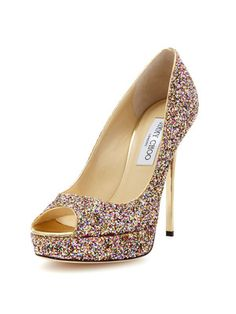 Jimmy Choo Crown Peep-Toe Pump