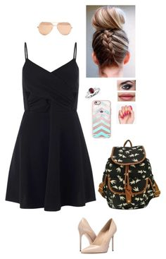 """""""Going to fall festival!!😄"""" by goldenarrow1001 ❤ liked on Polyvore featuring Miss Selfridge, Massimo Matteo, Blue Nile, Casetify and Linda Farrow"""