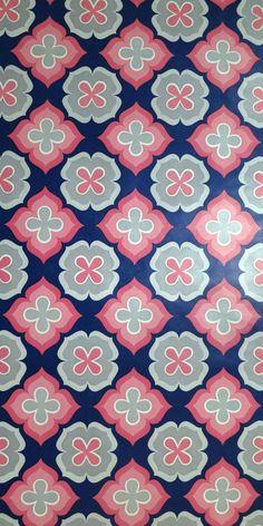 Vintage Wallpaper Jogurett 2529 per meter Geometric Pattern Design, Graphic Patterns, Surface Pattern Design, Tile Patterns, Cool Patterns, Beautiful Patterns, Textures Patterns, Design Patterns, Wallpaper Background Design