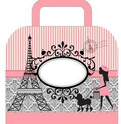 Beautiful Paris: Free Printable Suitcase Favor Box.