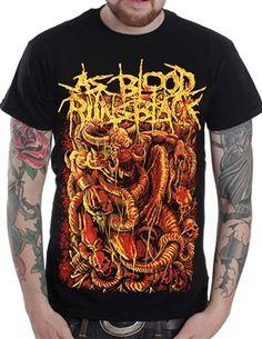 Silk Screen T Shirts, Band Merch, Death Metal, Vivid Colors, Printed Shirts, Stitching, Blood, Graphics, Fan