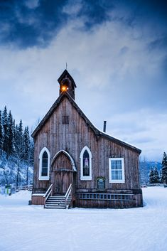 "Winter encroaches on St. Saviour's Anglican Church in Bakerville. Designed by the Rev. James Reynard in what is described as Carpenter Gothic, it was built by John Bruce and J. G. Mann between 1868 and 1870. British Columbia, Canada <a href=""http://www.robertdowniephotography.com"">www.robertdowniephotography.com</a> Love Life, Love Photography"