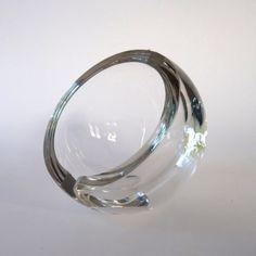 Mid Century Crystal Orb Ashtray  by:-FoxandThomas