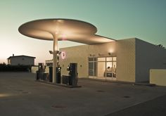 Gas station by Arne Jacobsen