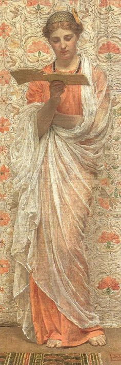 A Reader (1877). Albert Joseph Moore (English, 1841–1893).