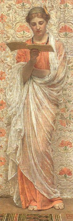 A Reader (1877).Albert Joseph Moore (English, 1841–1893).