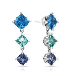 Capri Jewelers Arizona ~ www.caprijewelersaz.com Destiny Blue Earrings by Belle Étoile.  Styling in Blue.  Fashion Jewelry