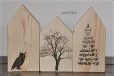 Kunst aus Palettenresten / Art made with parts of old pallets / Upcycling