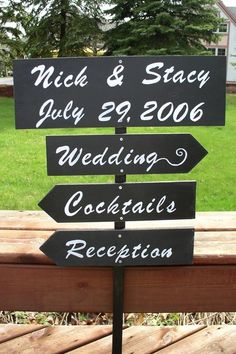 Personalized Wedding Ceremony & Reception Signs