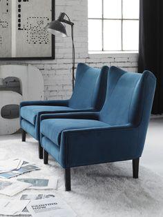 Wingback Chair via Gromano seen on Simply Grove