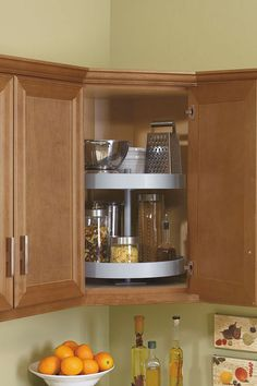 The Lazy Susan Cabinet Is Everyone S Essential Storage Unit Placed Higher For A Spin On