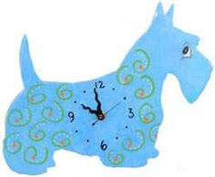 Cute Scottie Clock