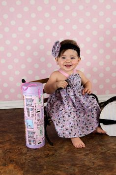 Baby Girl Dress in Sweet Pinks by pinkmouse on Etsy, $22.00