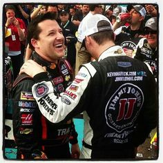 Winning car owner with wining car driver Phoenix...good job Harvick! Smoke is a great owner and driver.
