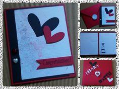 Card per un matrimonio... Cartoncino colorato, fustelle, timbri, tamponi, gessetti, fommy e tanto amore♡♡♡