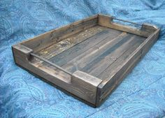 Extra Large Primitive Style Tray, primitive home decor , wooden Tray, crate, wood serving tray. $69.99, via Etsy.