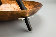 Charred Branch Bowl in Copper and Charred Wood