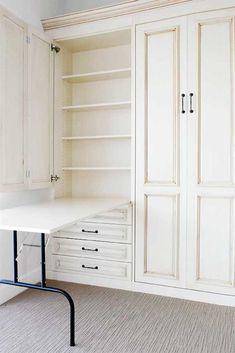 Sewing Room Storage, Laundry Room Storage, Craft Room Storage, Table Storage, Sewing Rooms, Bed Storage, Room Organization, Storage Shelves, Storage Ideas