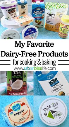 If you are dairy free cooking or dairy free baking, these are some of the best dairy free products that are tested and loved for my dairy free recipes! Dairy Free Baking, Dairy Free Yogurt, Dairy Free Cheese, Dairy Free Diet, Dairy Free Recipes For Kids, Dairy Free Snacks, Lactose Free Recipes, Gluten Free, Diet Recipes
