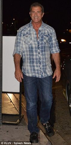 Mel Gibson was spotted with model, Nadia Lanfranconi, as they made their way out of the STK restaurant on 9/21/12