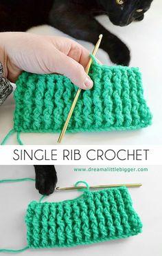 Single Rib Crochet Stitch Tutorial