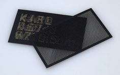 Pittsburgh-based designer Karl D D Willis has created an obfuscated business card that consists of a laser-cut decoding mask layer, and an encoded layer.     Called 'Moiré Card', the decoding mask layer helps reveal information into a readable form on the encoded layer, when the mask slides slowly on the surface of the other layer—making both layers important to each other.