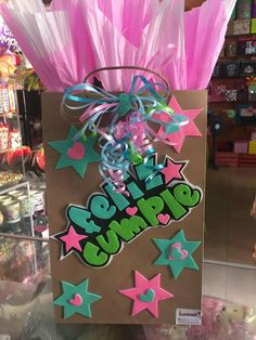 Diy Birthday, Birthday Gifts, Kids Gift Bags, High Heel Cakes, Bff Gifts, Ideas Para Fiestas, Pink Candy, Graffiti, Diy And Crafts