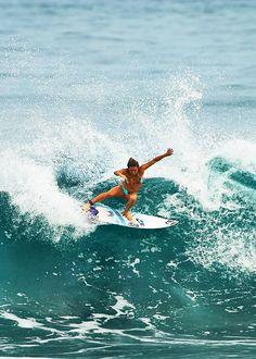 Pro surfer Coco Ho shredding. Learn how to surf in Southern California with Aqua Surf School. www.aquasufschool.com  surf, surfing, surfer, big waves, swell, beach, surf lesson, summer camp
