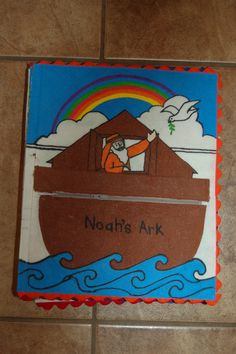 Noah's Ark with finger puppet animals from Ikea