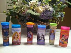 Disney pressed penny containers   ~ M minis container for the coins ~ Mentos gum container for the pressed pennies