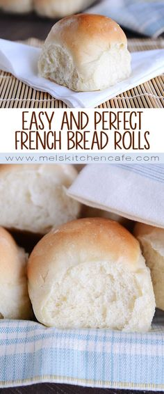 These popular, no-fail French bread rolls are light, fluffy and delicious! They are so easy to make; perfect for bread-making beginners and experts alike!