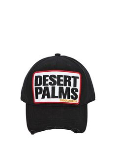 f7b61414 DSquared² | Black Desert Palms Cotton Canvas Baseball Hat for Men | Lyst Hat  For Man